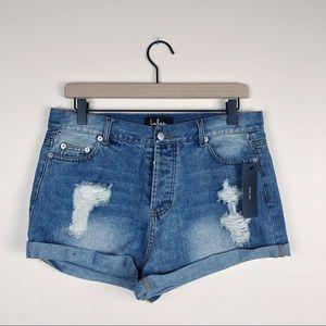 NWT Lulus Blue Jean shorts size large